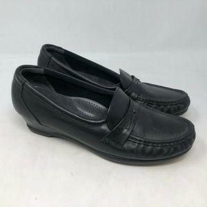 SAS tripad Easier Comfort Loafers wedge black 8.5